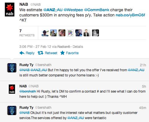 Banks on twitter